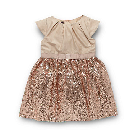 Baker by Ted Baker - Girl+s gold sequin and sateen party dress