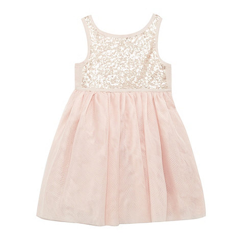 Baker by Ted Baker - Girl+s pink sequinned ballerina dress