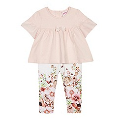 Baker by Ted Baker - Baby girls' pink top and floral leggings set