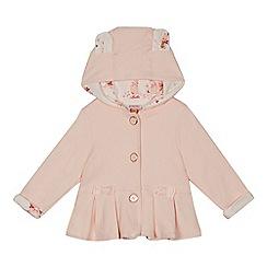 Baker by Ted Baker - Baby girls' light pink pleated hem hooded jacket
