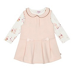 Baker by Ted Baker - Baby girls' light pink pinafore and top set