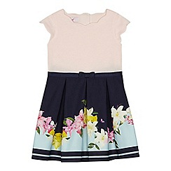Baker by Ted Baker - Girls' navy floral print mock dress