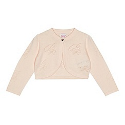 Baker by Ted Baker - Girls' light pink cropped cardigan