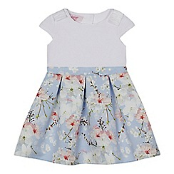 Baker by Ted Baker - Girls' white and blue floral print dress
