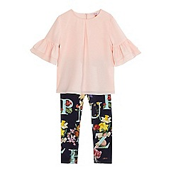 Baker by Ted Baker - Girls' navy top and floral print leggings set