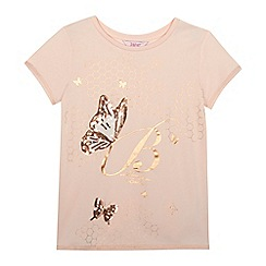 Baker by Ted Baker - Girls' pink sequinned butterfly top