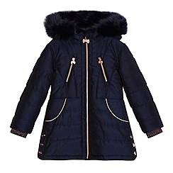 Baker by Ted Baker - Girls' navy padded coat