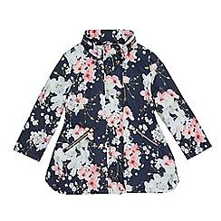 Baker by Ted Baker - Girls' navy floral print shower resistant jacket
