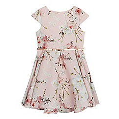 Baker by Ted Baker - Girls' light pink floral print belted prom dress