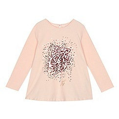 Baker by Ted Baker - Girls' light pink sequinned logo top