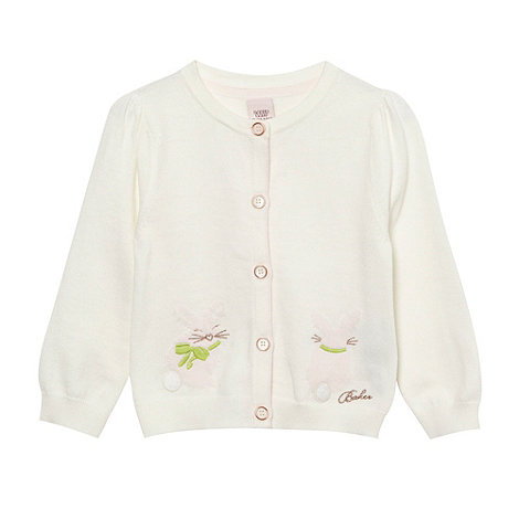 Baker by Ted Baker - Babies off white soft bunny cardigan