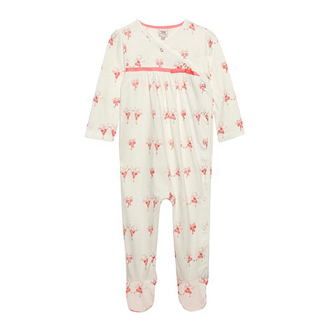 Baker by Ted Baker - Babies off white ballerina sleepsuit