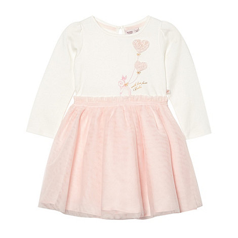 Baker by Ted Baker - Babies light pink mesh tutu jersey dress