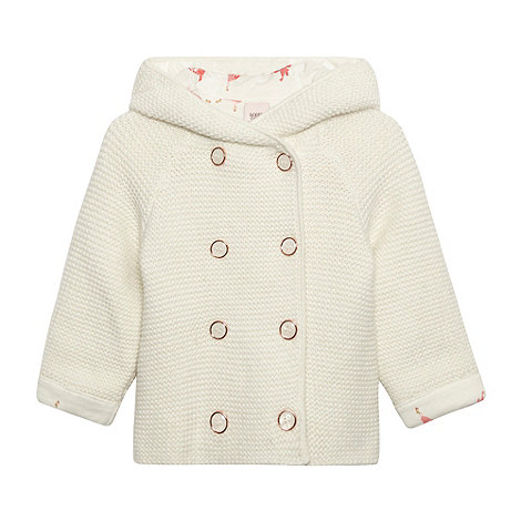 Baker by Ted Baker - Babies off white chunky knitted soft cardigan
