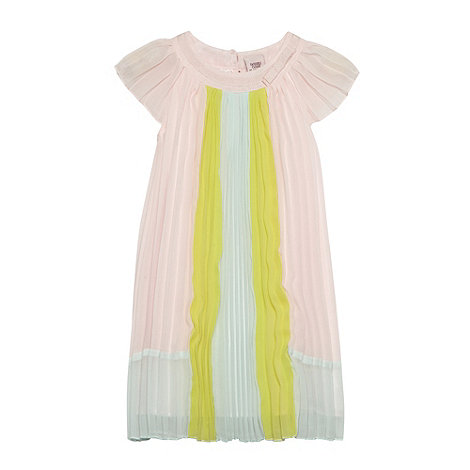 Baker by Ted Baker - Babies light pink pleated colour block dress