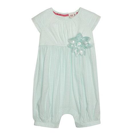 Baker by Ted Baker - Babies light green woven 3D flower romper suit
