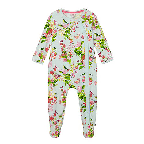 Baker by Ted Baker - Babies light green floral sleep suit