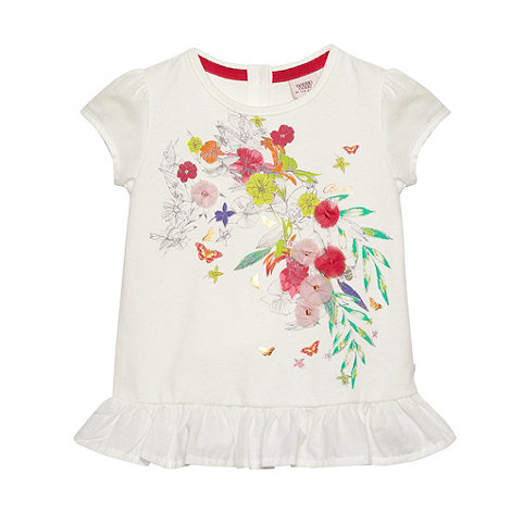 Baker by Ted Baker - Babies white floral frill top