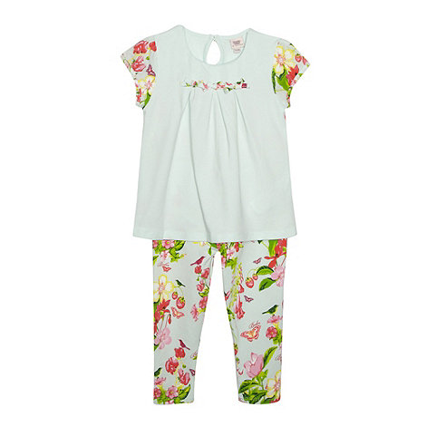 Baker by Ted Baker - Babies light green floral top and leggings
