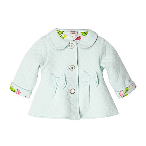 Baker by Ted Baker - Babies light green quilted sweat jacket