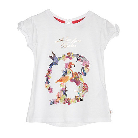 Baker by Ted Baker - Babies white +With Love+ t-shirt