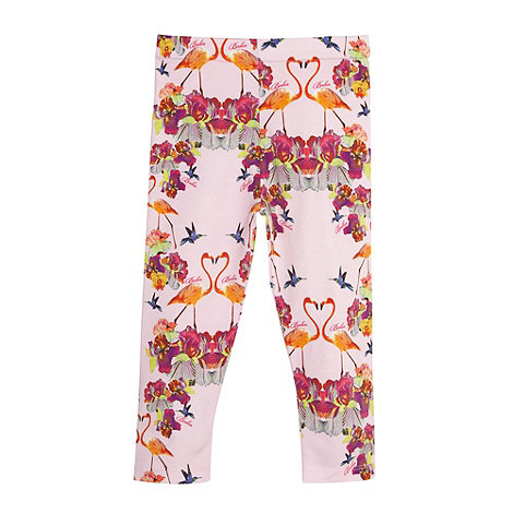 Baker by Ted Baker - Babies light pink orchid print leggings