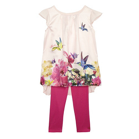 Baker by Ted Baker - Babies pink orchid tunic and leggings set