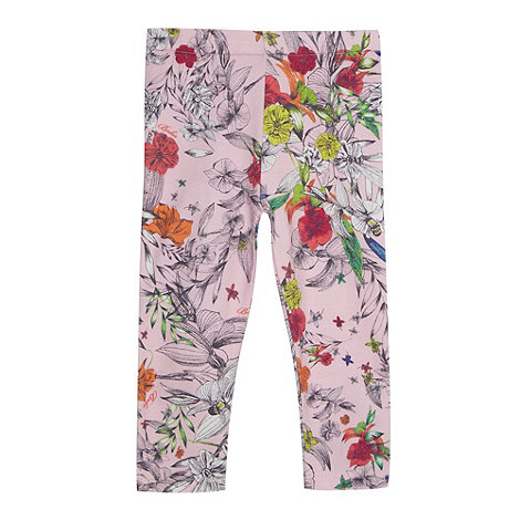 Baker by Ted Baker - Babies light pink floral print leggings