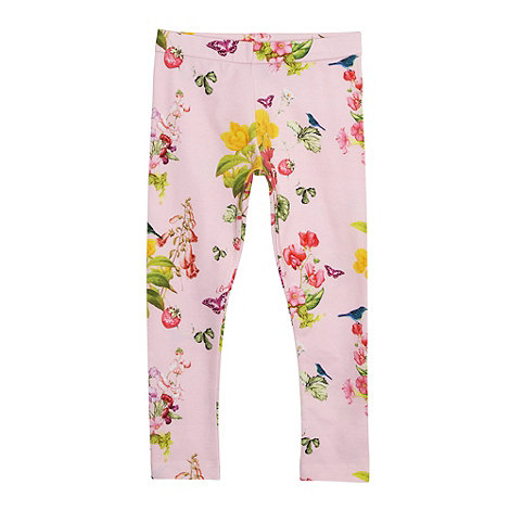 Baker by Ted Baker - Babies light pink botanical printed leggings