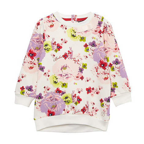 Baker by Ted Baker - Girl+s off white floral bunny sweat top