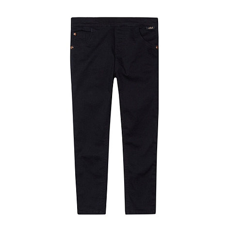 Baker by Ted Baker - Girl+s navy extra stretchy embroidered jeans
