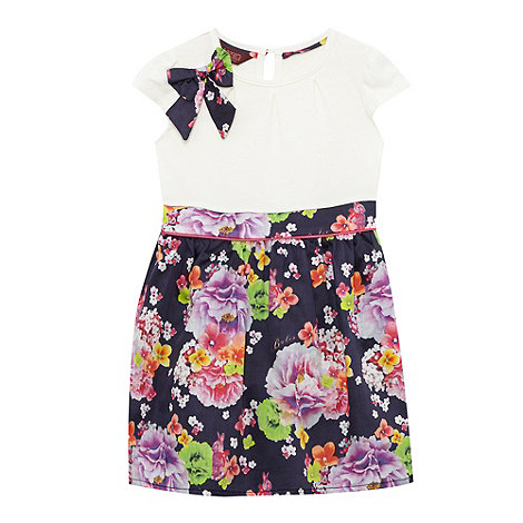 Baker by Ted Baker - Girl+s navy floral mockable dress