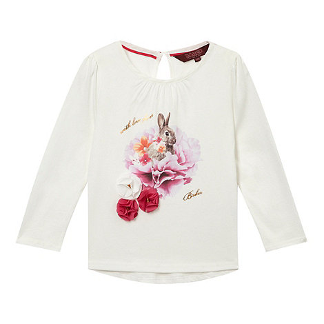 Baker by Ted Baker - Girl+s off white bunny printed top