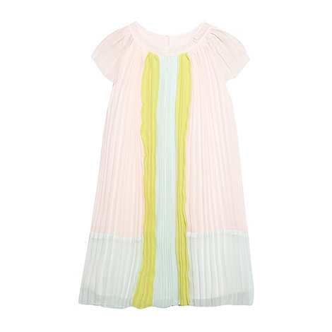 Baker by Ted Baker - Girl+s pink pleated colour block dress