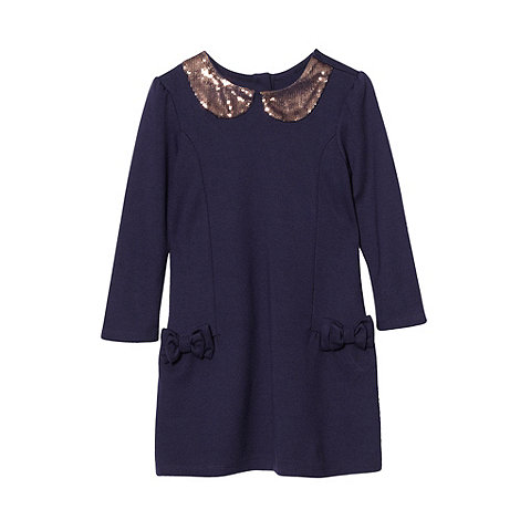 Baker by Ted Baker - Girl+s navy sequin collar dress