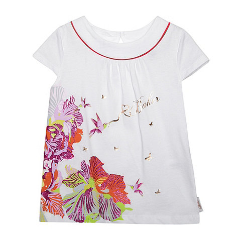 Baker by Ted Baker - Girl+s white hummingbird logo top