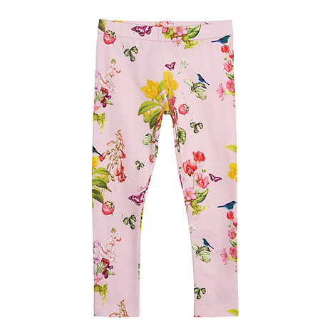 Baker by Ted Baker - Girl+s light pink botanical printed leggings