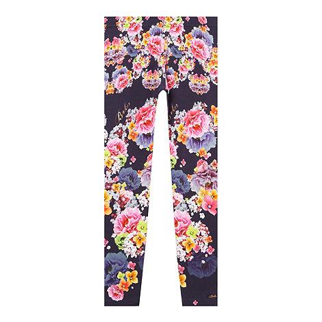Baker by Ted Baker - Girl+s navy floral pattern leggings