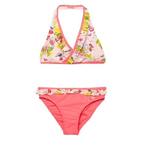 Baker by Ted Baker - Girl+s light pink botanical bikini set