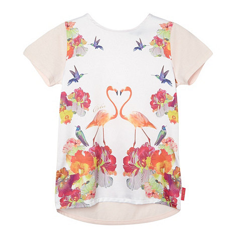 Baker by Ted Baker - Girl+s light pink mirrored flamingos top