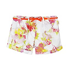 Baker by Ted Baker - Girl's white orchid print shorts