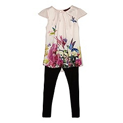 Baker by Ted Baker - Girl's pink orchid tunic and leggings set