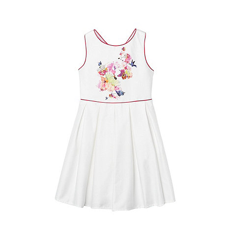 Baker by Ted Baker - Girl's white cross back dress