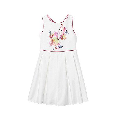 Baker by Ted Baker - Girl+s white cross back dress