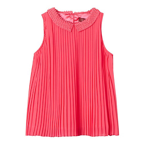 Baker by Ted Baker - Girl+s pink pleated collar top