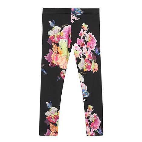 Baker by Ted Baker - Girl's black floral leggings