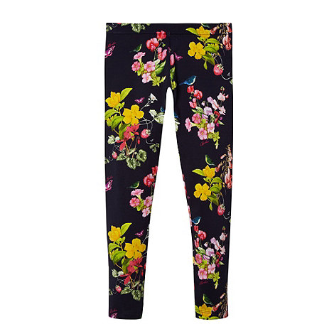 Baker by Ted Baker - Girl+s navy botanical print leggings