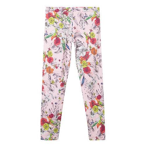 Baker by Ted Baker - Girl+s light pink floral print leggings