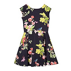 Baker by Ted Baker - Girl's navy botanical print dress