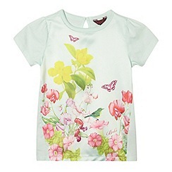 Baker by Ted Baker - Girl's light green botanical satin front top